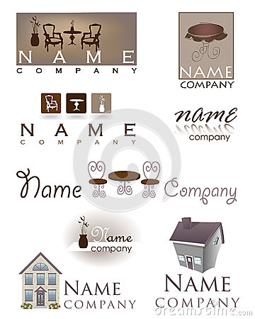 Home Design Furniture Logo Stock Photo Image 30126370