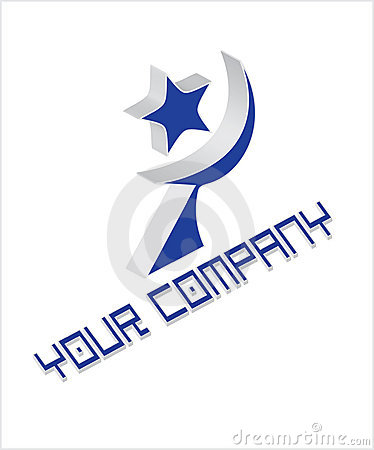 Company logo with star