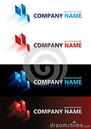 Company name. Design elements.
