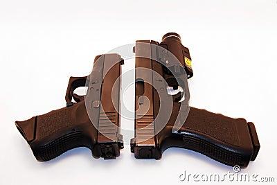 Comparación de la pistola