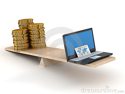 Comparison of e-commerce and cash.