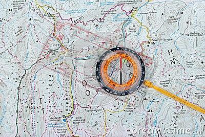Compas, map