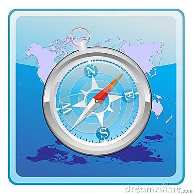 Compass Editorial Stock Photo