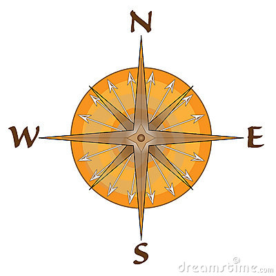 Compass With Arrow Points