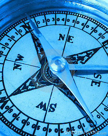 Compass in blue