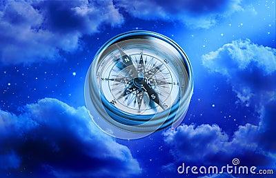 Compass Chance Choices Sky Stars