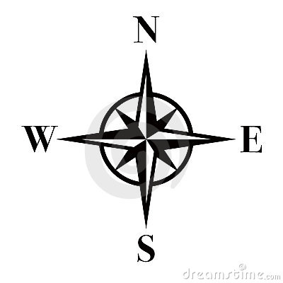 Compass Silhouette In Black Compass