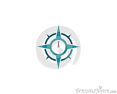 Compass Logo Template vector icon. Vector Illustration