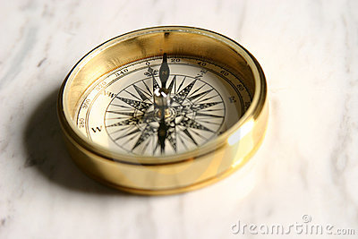 Compass on Marble
