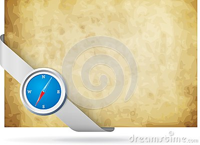 Compass and old background