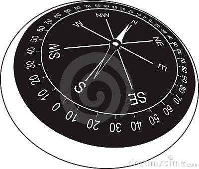Compass in old style (black)