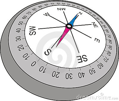 Compass in old style , vector illustration