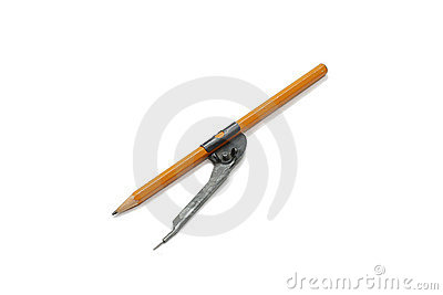 Compass with pencil