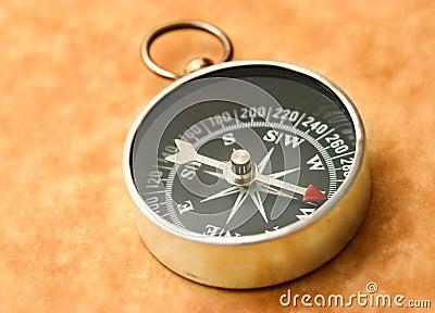 Compass pointing northwest