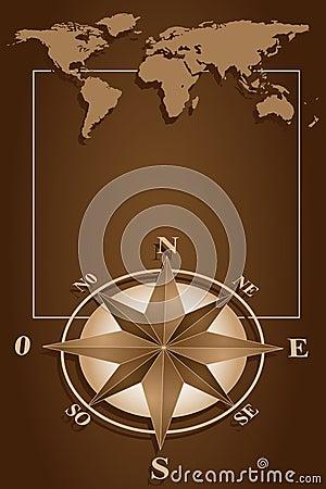 Compass Rose and blanck frame