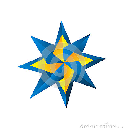 Free Compass Rose Design Logo Stock Photo - 30220320