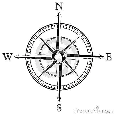 Free Compass Rose Illustration Royalty Free Stock Image - 4389596