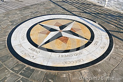 The compass rose, Pesaro