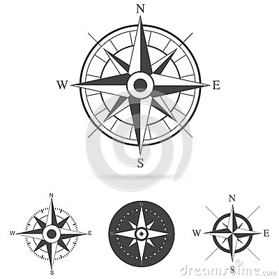 Free Compass Rose Vector Collection Stock Images - 45005724