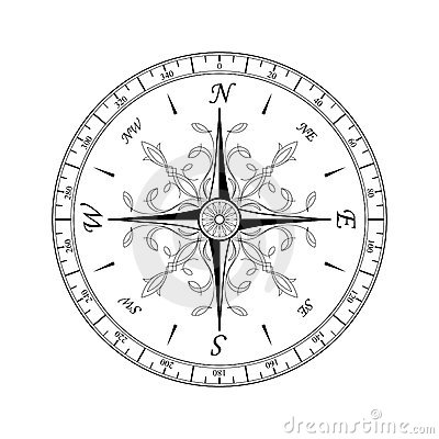 Free Compass Rose1 Royalty Free Stock Images - 18959339