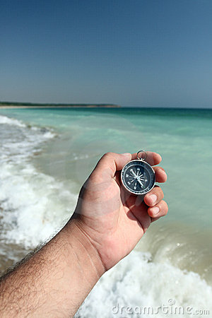 Compass and sea