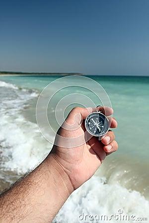 Compass and sea