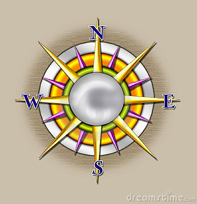 Compass sun illustration