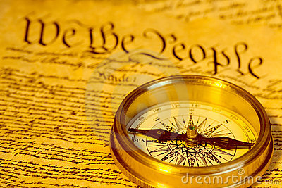 Compass and United States Constitution