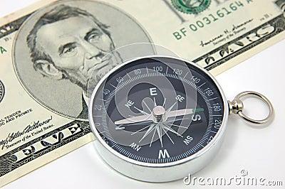 Compass on us dollar bill