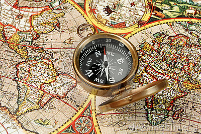 Compass & world map