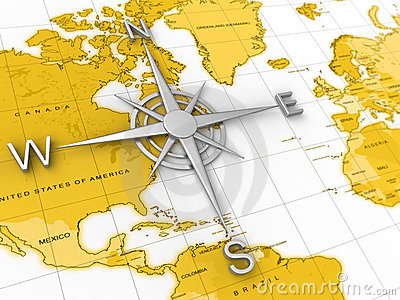 Compass, world map, travel, expedition, geography