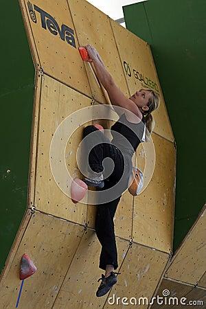 Competición 2011 de IFSC Worldcup Fotografía editorial