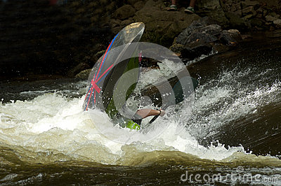 Competing water sports on the Pigeon River.