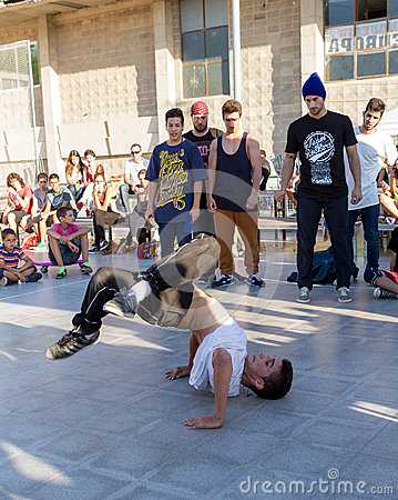 Competition of breakdance Editorial Stock Image