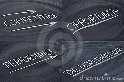 Competition, opportunity, determination