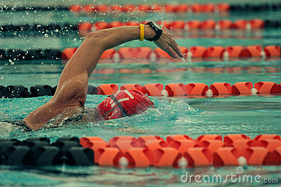 Competition swimmer