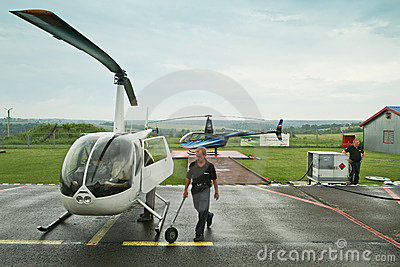 Competitions on helicopter sports Editorial Image