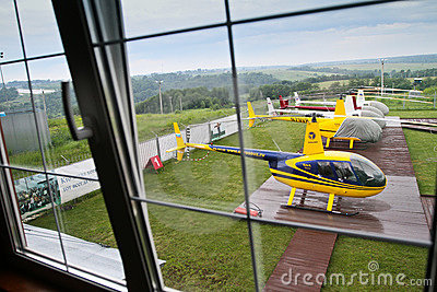 Competitions on helicopter sports Carlson Cup-2011 Editorial Stock Image