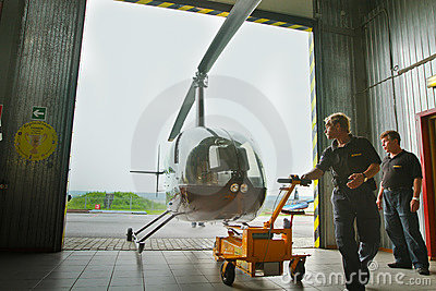 Competitions on helicopter sports in Russia. Editorial Photo