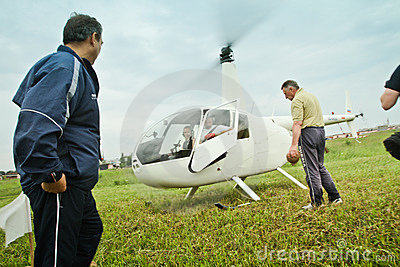 Competitions on helicopter sports in Russia. Editorial Photography