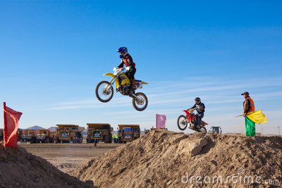 Competitions on motorcycle sport Editorial Photo