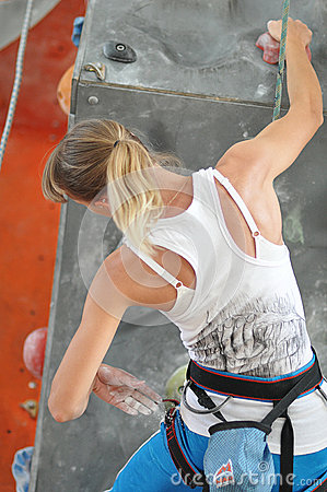 Competitions in rock climbing Editorial Stock Photo