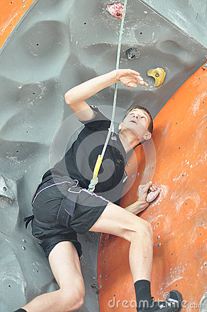 Competitions in rock climbing Editorial Photo