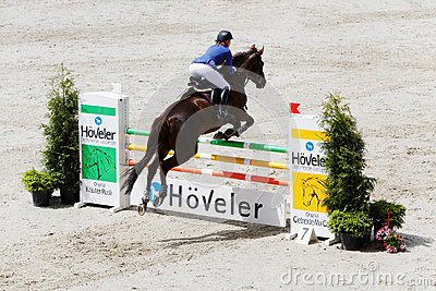 Competitions in show jumping CSI3 Vivat Editorial Stock Image