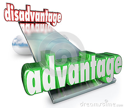 Competitive Advantage Vs Disadvantage See-Saw Balance Scale