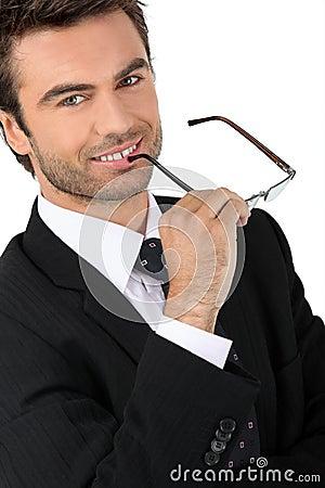 Competitive businessman
