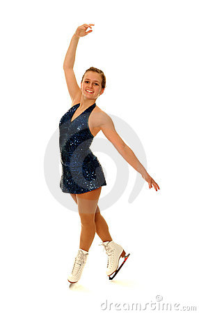 Competitive Figure Skater Smiling as she Poses