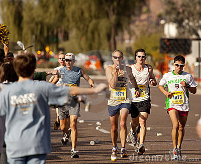 Competitor in the 2010 Phoenix Marathon Editorial Stock Photo