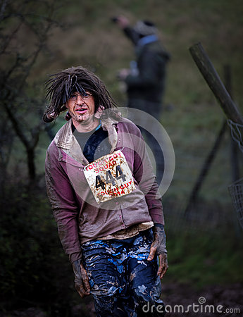 Free Competitor 444 At 2014 Tough Guy Obstacle Race Royalty Free Stock Image - 72258946