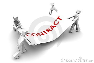 Competitor fight for business contract